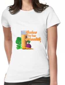 Juice for your health by Valxart  Womens Fitted T-Shirt