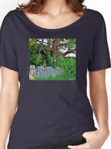 Gnarly Tree Behind a Ramshackle Fence Women's Relaxed Fit T-Shirt