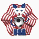 USA Soccer ball w/ mouse by Valxart by Valxart