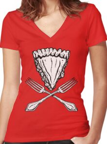 Pie(rate) Women's Fitted V-Neck T-Shirt