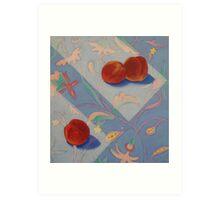 Three Nectarines Art Print