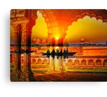 On the Waves of my Memory of India Canvas Print