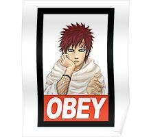 Obey Gaara  Poster