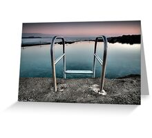 Kiama Rock Pool Sunrise Greeting Card
