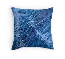 Icy Web. Throw Pillow