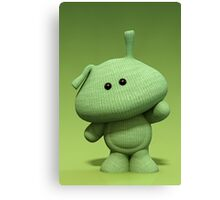 Little Green Man Canvas Print