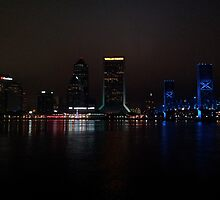 Jacksonville Landing at Night by usingfreetime