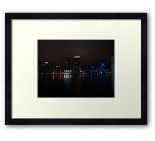 Jacksonville Landing at Night Framed Print