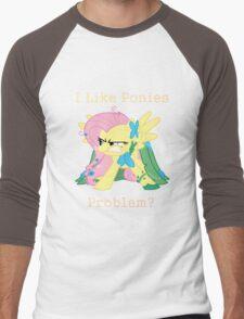 Fluttershy Problem Men's Baseball ¾ T-Shirt
