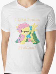Fluttershy Problem Mens V-Neck T-Shirt