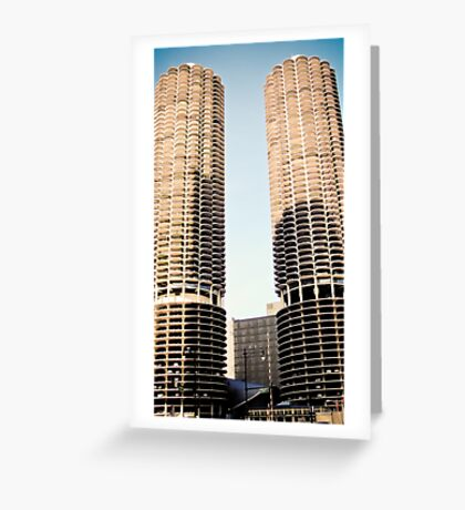 Corn Cob Buildings Greeting Card