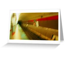Warped El Tunnel Greeting Card