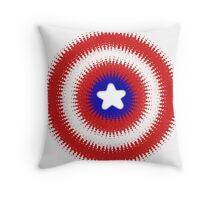 Radial Cap Shield Throw Pillow