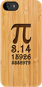 Bamboo Look & Engraved Pi Numbers by scottorz