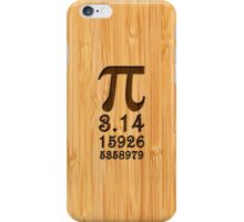 Bamboo Look & Engraved Pi Numbers iPhone Case/Skin