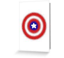 Radial Cap Shield Greeting Card