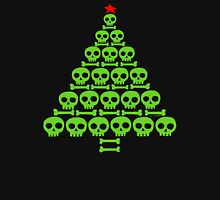 Green Skull and Bones Christmas Tree  Unisex T-Shirt
