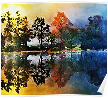 Reflections At Tallman Pond Poster