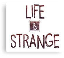 Life is strange edited logo Canvas Print