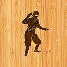 Bamboo Look & Engraved Cool Japanese Ninja by scottorz