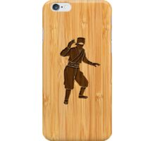Bamboo Look & Engraved Cool Japanese Ninja iPhone Case/Skin