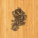 Bamboo Look & Engraved Chinese Dragon by scottorz