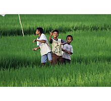 Bali Boys Photographic Print