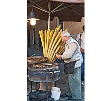 Hot Chestnuts Vendor Photographic Print