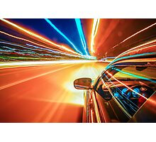 traveling at speed of light Photographic Print