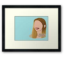 Skins UK - Oh Wow Cassie. Framed Print