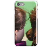 Young girl and her pet poodle  iPhone Case/Skin