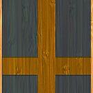 Bamboo Look & Engraved Sweden Swedish Sverige Flag by scottorz