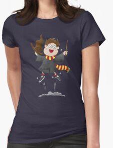 Happy boy wizard jumping like magic! T-Shirt