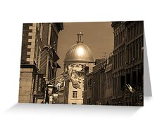Montreal Dome of Marché Bonsecours Greeting Card