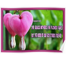 ❤ ❥ BLEEDING HEART WITH SCRIPTURE ❤ ❥ Poster
