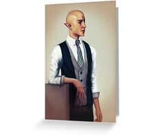Solas in a Waistcoat Greeting Card