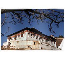 Rinchen Pung Dzong, Paro Bhutan  Poster