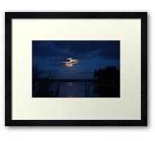 Last full moon of 2012 Framed Print