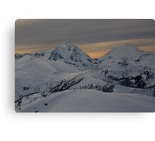 Copper Mountain Lookout with Mt Shuskan and Mt Baker Canvas Print