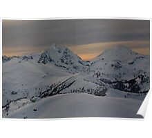 Copper Mountain Lookout with Mt Shuskan and Mt Baker Poster