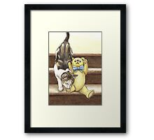 """lets sleep in MY bed"" Framed Print"