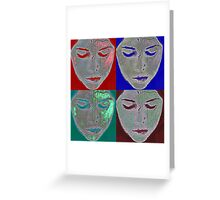 the mask Greeting Card