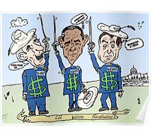 Les politiciens américains comme les Trois fiscaleers Poster