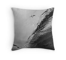 High Flying Barrel Throw Pillow