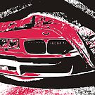 BMW E36 pop-art by GKuzmanov