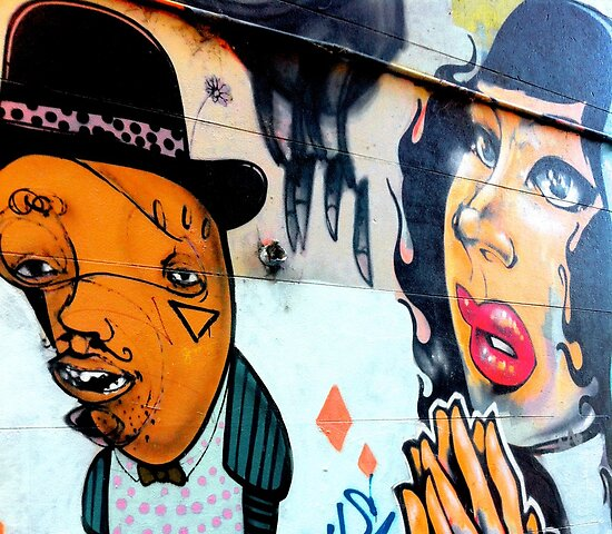 Melbourne Graffiti Street Art - Jazz couple by NicNik Designs