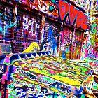 Melbourne Graffiti Street Art Rubbish Bin by NicNik Designs