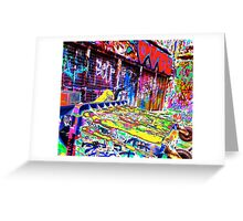 Melbourne Graffiti Street Art Rubbish Bin Greeting Card