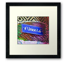 Union Lane - Graffiti - Street Art Framed Print