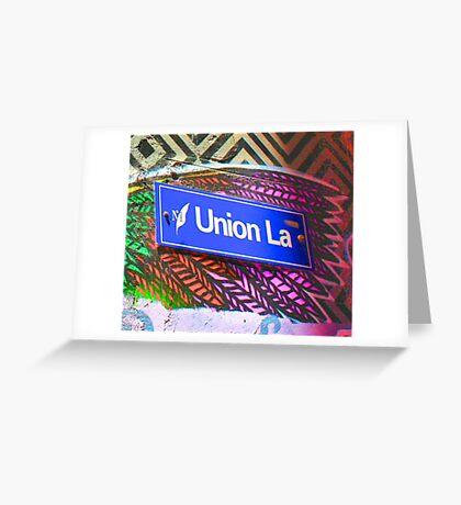 Union Lane - Graffiti - Street Art Greeting Card